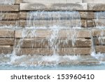 Waterfall Stone Wall And Flat...