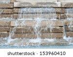 Waterfall Stone Wall And Flat...