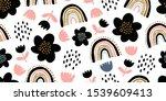 elegant seamless pattern with... | Shutterstock .eps vector #1539609413