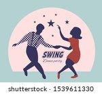 swing dance party poster.... | Shutterstock .eps vector #1539611330