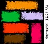 dirty grunge edges banner box... | Shutterstock .eps vector #153961583