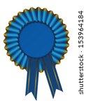 illustration of a blue ribbon... | Shutterstock .eps vector #153964184