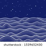 sea wave background. seamless...   Shutterstock .eps vector #1539652430