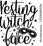 resting witch face vector files.... | Shutterstock .eps vector #1539689036