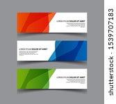 vector abstract design banner...   Shutterstock .eps vector #1539707183