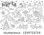 christmas fantasy map of the... | Shutterstock .eps vector #1539723719