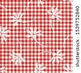 1950s gingham seamless vector... | Shutterstock .eps vector #1539752840