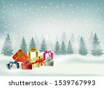 christmas and happy new year... | Shutterstock .eps vector #1539767993