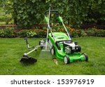 Green Lawnmower  Weed Trimmer ...