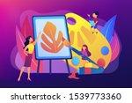 female artist at easel teaching ...   Shutterstock .eps vector #1539773360