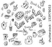 illustration of tea party set. | Shutterstock . vector #153978053
