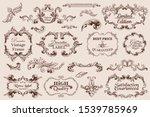 vector set calligraphic design... | Shutterstock .eps vector #1539785969