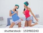 Girls In Hair Rollers Singing...