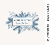 merry christmas abstract... | Shutterstock .eps vector #1539843356