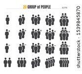 group of people with add plus... | Shutterstock .eps vector #1539845870