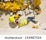construction worker has an... | Shutterstock . vector #153987524