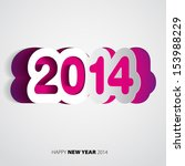 happy new year 2014 velvet... | Shutterstock .eps vector #153988229