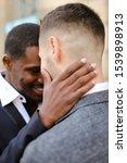 afro american man hugging... | Shutterstock . vector #1539898913