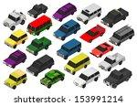 set of military vehicles. 3d  | Shutterstock . vector #153991214
