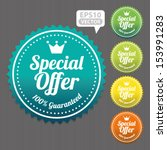 special offer sticker and tag... | Shutterstock .eps vector #153991283