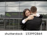 two people at the airport    Shutterstock . vector #153992864
