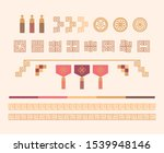 korean traditional decoration... | Shutterstock .eps vector #1539948146