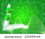 christmas balls on a branch.  ... | Shutterstock . vector #153999149