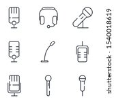 microphone set icon template...