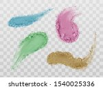 eyeshadow smears  crushed dry... | Shutterstock .eps vector #1540025336