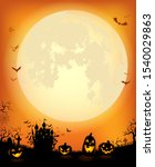 halloween background with the... | Shutterstock .eps vector #1540029863