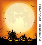 halloween background with the... | Shutterstock .eps vector #1540029866