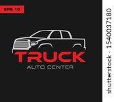 pick up truck  truck logo... | Shutterstock .eps vector #1540037180