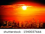 abstract red illustration with... | Shutterstock . vector #1540037666