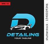 letter d detailing  logo letter ... | Shutterstock .eps vector #1540039346