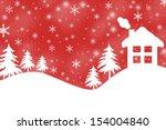 snowy landscape | Shutterstock . vector #154004840