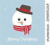 Illustration Of Snowman Head....