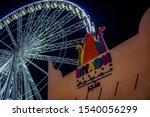 winter wonderland in riyadh... | Shutterstock . vector #1540056299