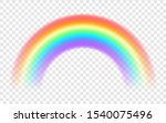 rainbow on a transparent... | Shutterstock .eps vector #1540075496