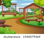 background scene of zoo with... | Shutterstock .eps vector #1540079369