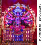 Idols of Hindu Goddess Kali.Goddess Kali is the god of power(shakti)and deth, also known as Shyama or Kalika.