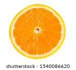 One Halves Of A Juicy Orange On ...