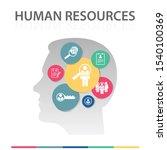 human resources infographics... | Shutterstock .eps vector #1540100369