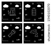 set of universal icons for... | Shutterstock . vector #1540102070