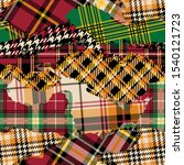 tartan plaid fabric patchwork... | Shutterstock .eps vector #1540121723