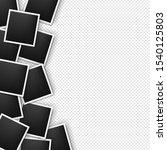 photos border on transparent... | Shutterstock . vector #1540125803