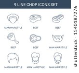 chop icons. trendy 9 chop icons.... | Shutterstock .eps vector #1540187276