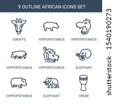 african icons. trendy 9 african ... | Shutterstock .eps vector #1540190273