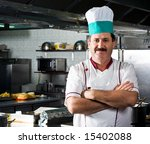 happy chef at work | Shutterstock . vector #15402088