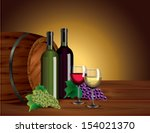 wine background with two...