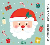 cute christmas character vector ... | Shutterstock .eps vector #1540217549